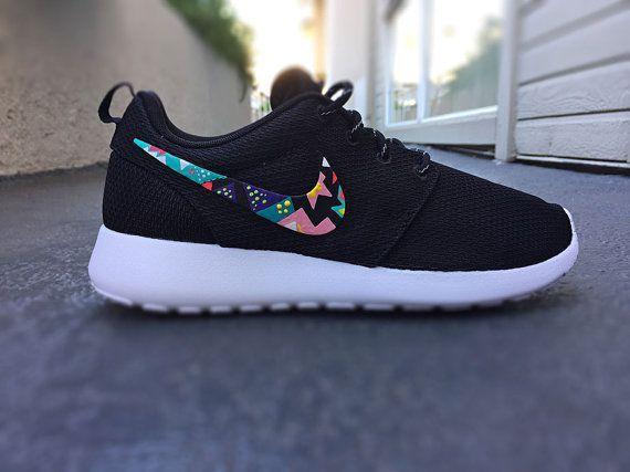 Womens Custom Nike Roshe Run sneakersTeal and hot by CustomSneakz