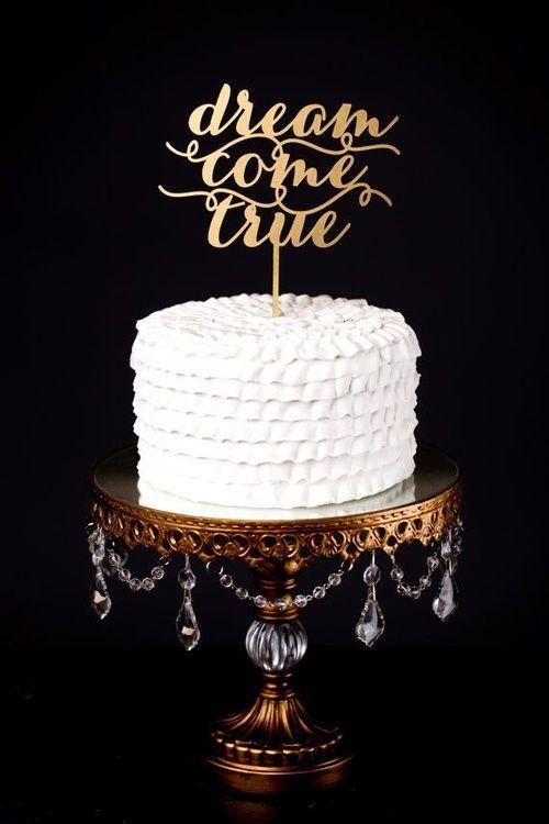 Топперы на торт, деревянные слова