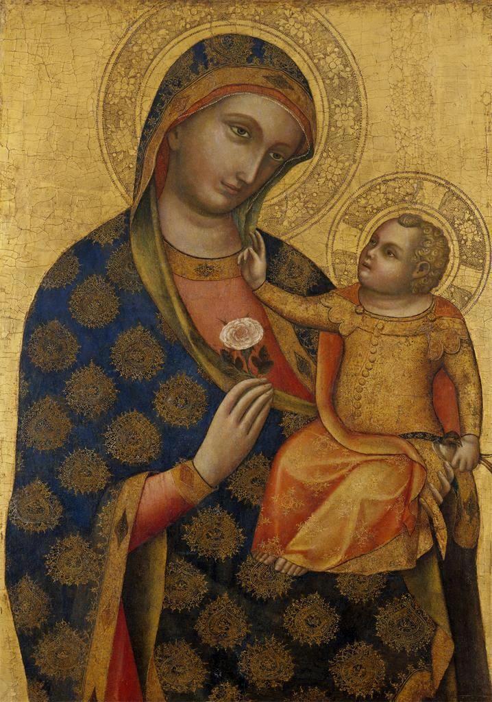 """""""Madonna  Child""""  --  Circa 1371  --  Lorenzo Veneziano  --  Italian  --  Birmingham Museum of Art, UK"""