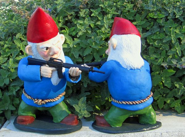 Garden Gnomes With Guns 15 best gnomes. images on pinterest | garden gnomes, fairies