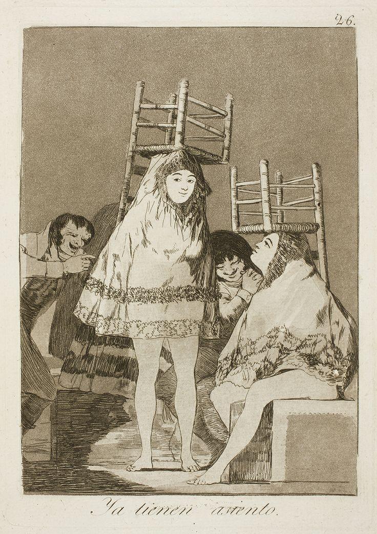 """Francisco de Goya: """"Ya tienen asiento"""". Serie """"Los caprichos"""" [26]. Etching and…"""