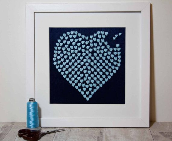 Personalised Heart Love Gift Valentines Day by ImagineSewBeautiful