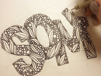 Awesome!: Graphics Design Hands Doodles, Anna Ropalo, Hands Drawn Fonts, Drawn Letters, Letters Fonts, Hands Drawn Types, Hands Letters, Doodles Zentangle Letters, Typography Hands Drawn