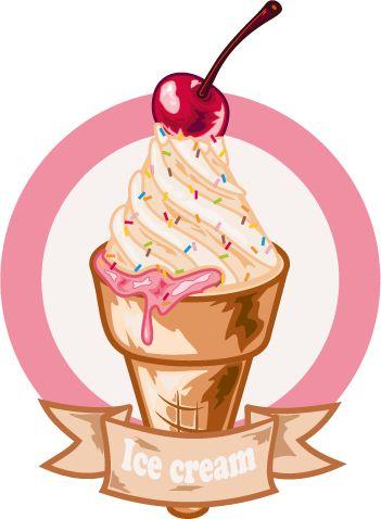 imaden de helado en formato vectorial