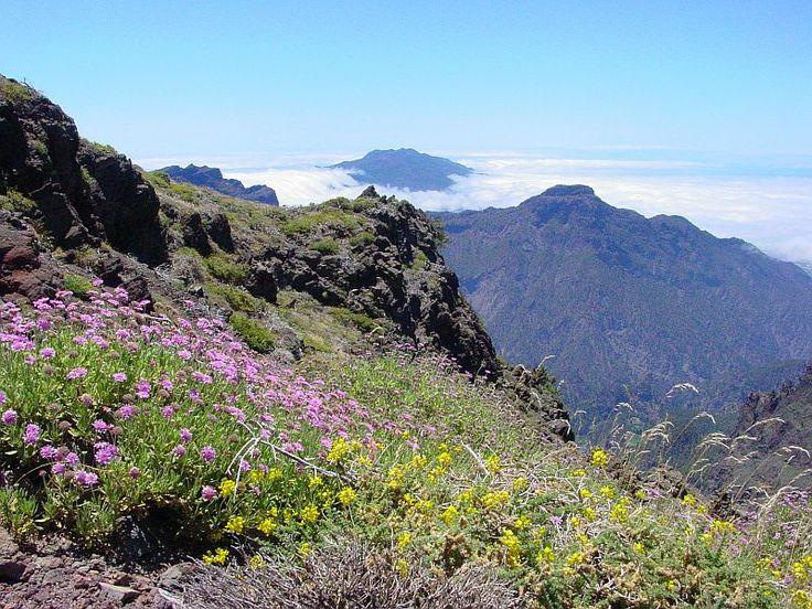 Op de kraterrand van de Caldera