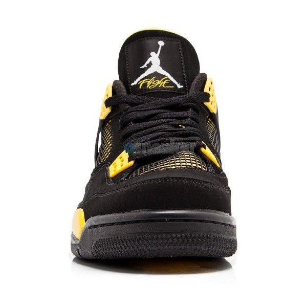 Air Jordan IV (4) Retro Thunder 2012 ❤ liked on Polyvore featuring jordans, shoes, retro home accessories, retro home decor and white home decor