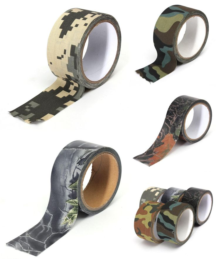 [Visit to Buy] 1pcs 0.05m x 10m Army Camouflage Stealth Duct Tape Gun Rifle Stealth Desert Shooting Hunting Decor Adhesive Duct #Advertisement