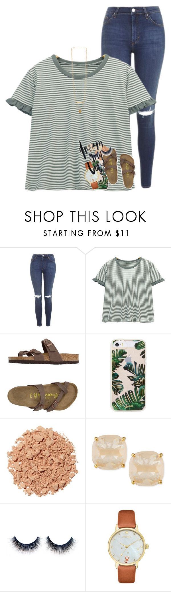 """can't keep you off my mind"" by ellaswiftie13 on Polyvore featuring Topshop, Chicnova Fashion, Birkenstock, Sonix, Illamasqua and Kate Spade"