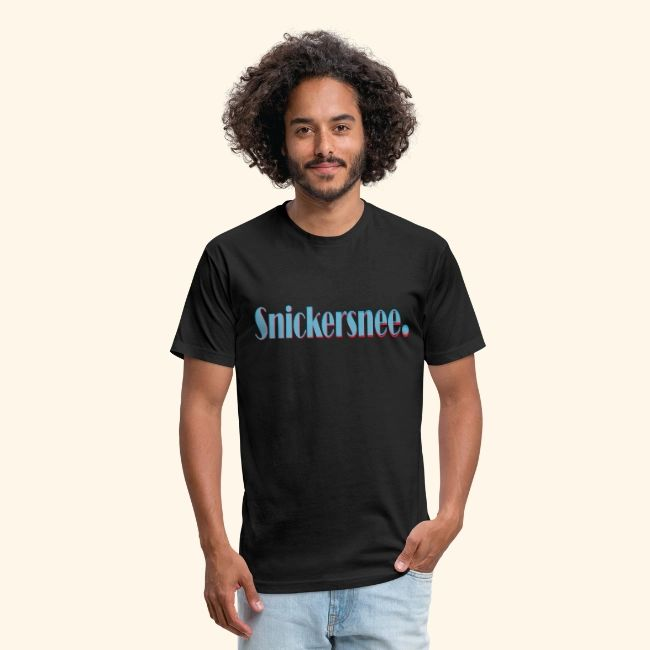 Snickersnee I cool words | Fitted Cotton/Poly T-Shirt by Next Level