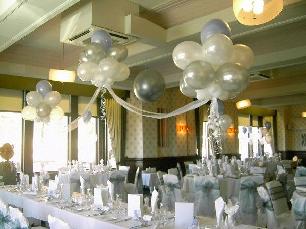 Balloon clouds over top table catering and party decor pinterest tulle - Decoration ballon mariage ...