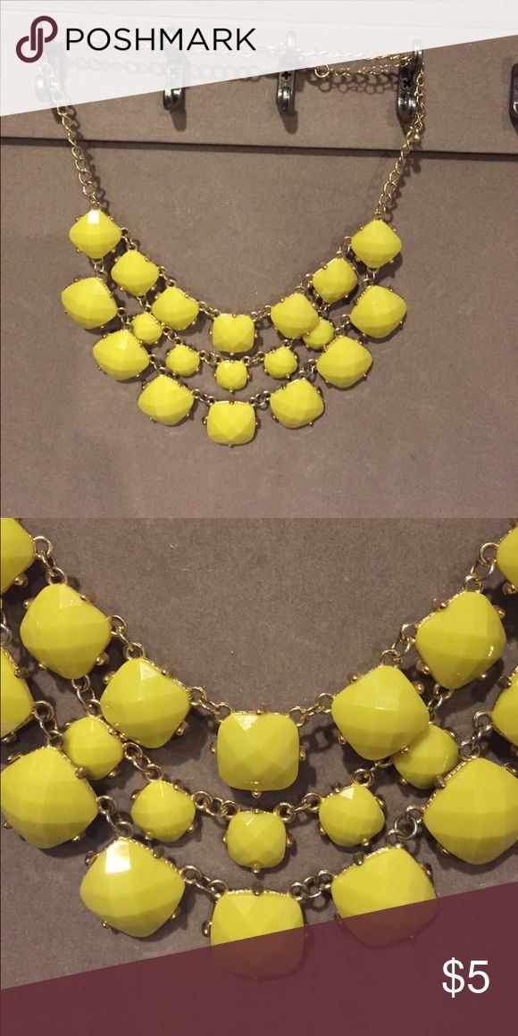 Yellow necklace Yellow statement necklace perfect for any occasion Jewelry Necklaces
