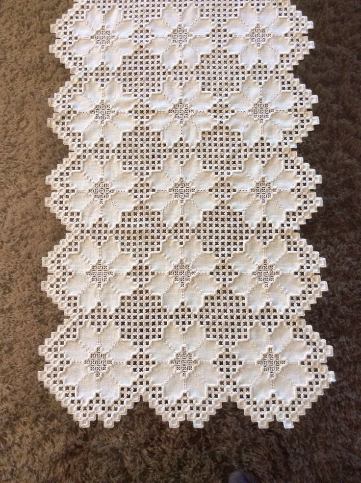 Hardanger Table runner by Dawn