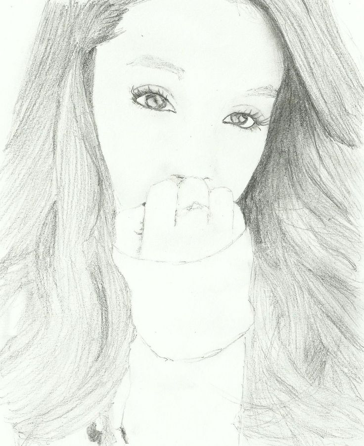 My drawing of Ariana Grande, requested by @GraceAnne12345 :)