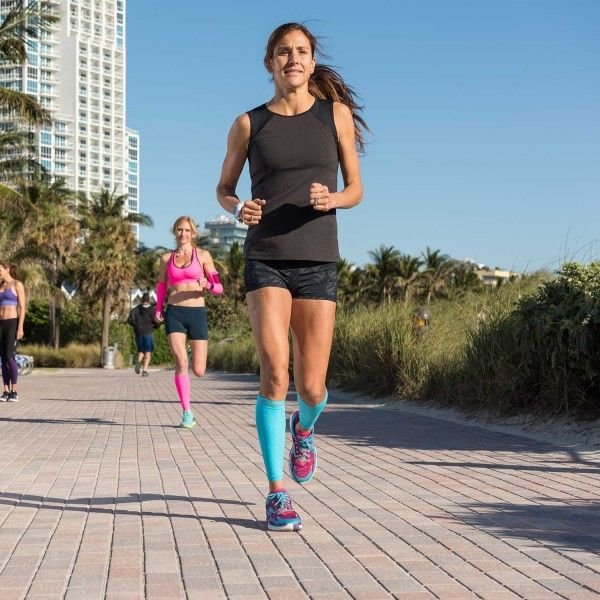 Zensah Compression Leg Sleeves - help provide runners and all athletes with calf support, shin splint relief, and decreased fatigue. They are the best selling compression leg sleeves worldwide and come in a large variety of colors for men and women. These compression sleeves enhance your body's natural blood circulation to increase oxygen flow to the muscles of your lower leg. This means you'll be able to work out harder and longer, and recover more quickly.