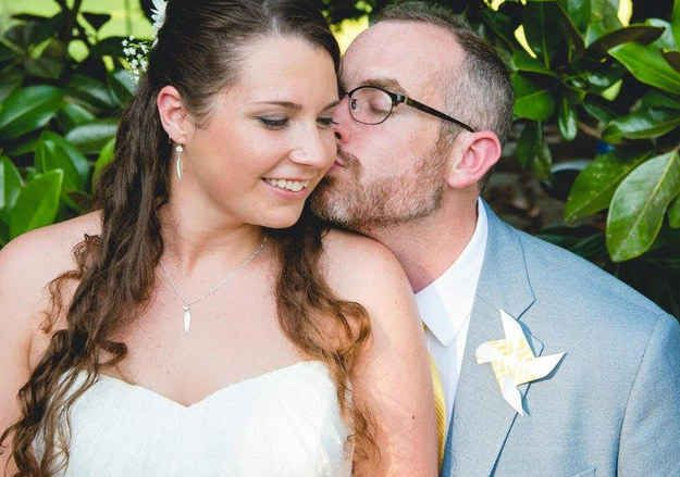 A pair of complete strangers met, fell in love, and got married after they were brought together by a mysterious Facebook glitch.
