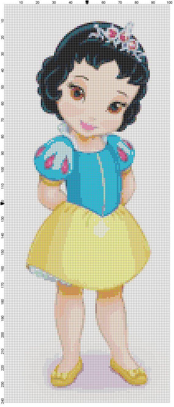 Mini Snow White cross stitch pattern PDF on Etsy, $1.97