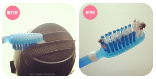 TBDtoothbrush2: Hair Ideas, Blowing Dryer, Dryer Style, Blowdryer Vent, Hair Brushes Clean, Clogs Hairdryer, Beautiful Department, Hair Dryer, Beautiful Hacks
