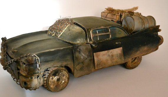 Post apocalyptic car junkyard car Mad Max by TheCraftapplePanda