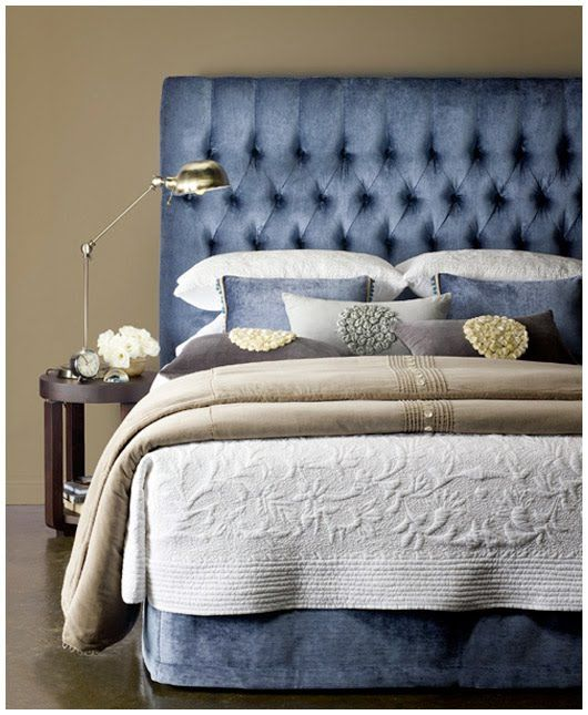 Custom upholstered bedheads by Heatherly Design, Melbourne