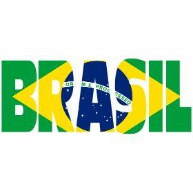 Brasilien mit Fahne - Brasilien, das S�damerikanische Land mit seiner Fahne.