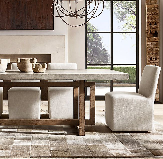 Heston Rectangular Dining Table Restoration Hardware Dining Room