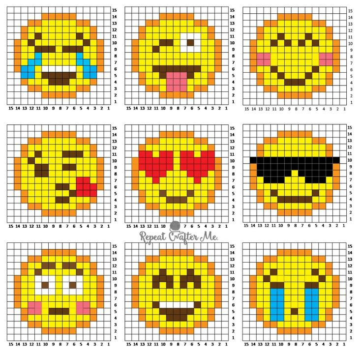 Crochet Emoji C2C Graphgan - Repeat Crafter Me