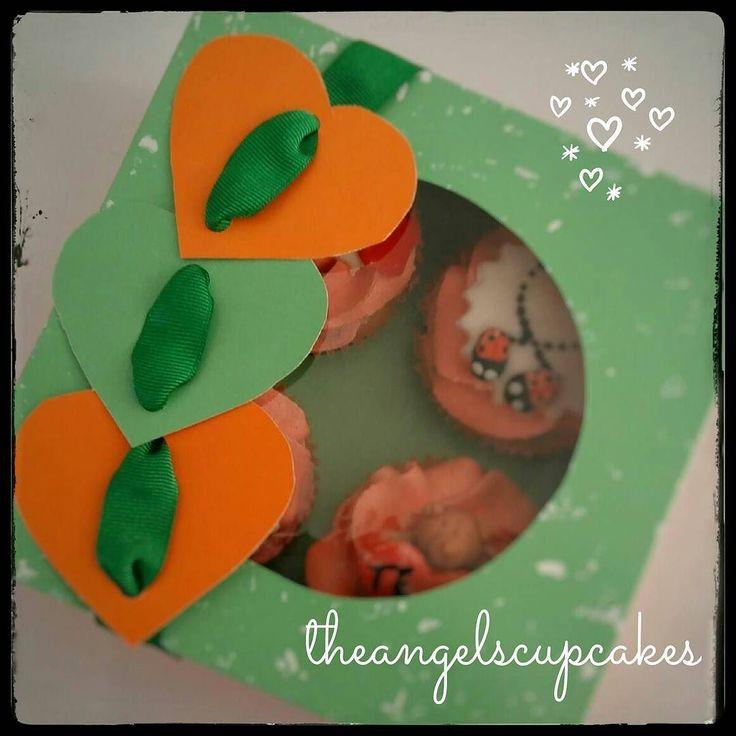 Nuestros cupcakes vienen listos para regalar en hermosas cajas personalizadas.  Para pedidos escribe a theangelscupcakes@gmail.com y con gusto te enviaremos un presupuesto  #pasteleria #diadelosenamorados #reposteria #caracas #ccs #postre #dulce #regalo #sanvalentin #14f #cupcake #torta #ponque #14defebrero