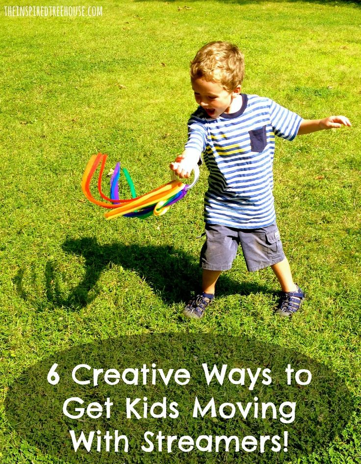 6 Creative Movement Activities using streamers.