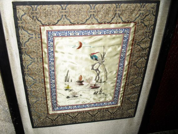 Stunning Antique/Vintage Japanese/ Asian framed by JUNKMANSGAL, $65.00
