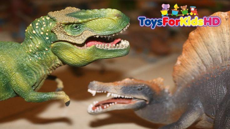 Dinosaurios para niñosTyrannosaurus Rex v/s Spinosaurio Schleich Dinosaurios de Juguetes