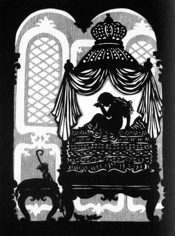 Postkarte mit Scherenschnitt-Motiv MÄRCHEN ANDERSEN DIE PRINZESSIN AUF DER ERBSE in Sammeln & Seltenes, Ansichtskarten, Sonstige | eBay