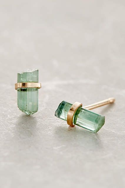 Nova Studs - anthropologie.com in green please!!!!!!! (or blue or pink if out)