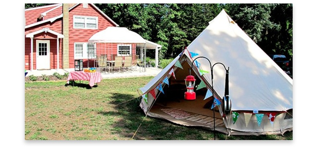 Sleeping In Tent In Backyard : hosting backyard #camping events in their customers? gardens Tents