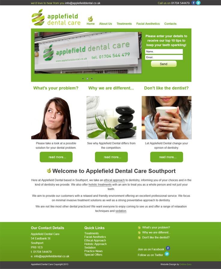Applefield Dental     Website developed and designed by www.online-guru.co.uk