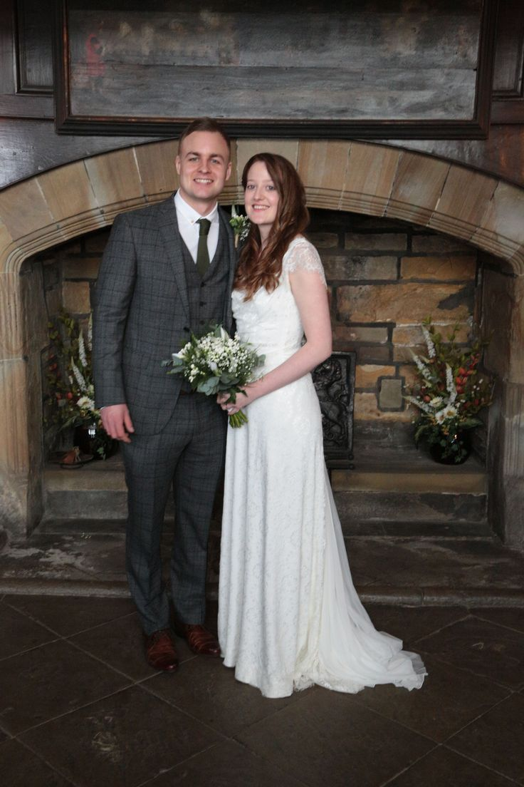 Stunning #lacebride Asher wearing wedding dress by Rembo Styling available at Lace & Co. Bridal Boutique