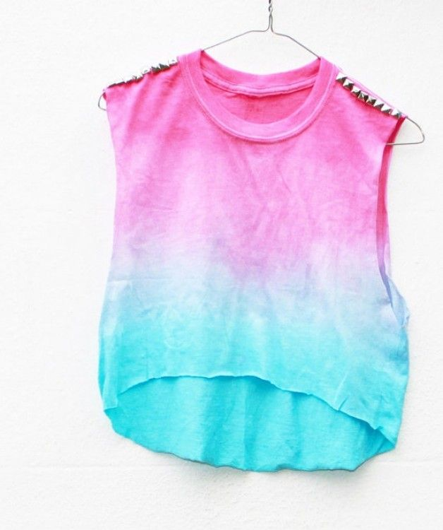Studded ombre crop top