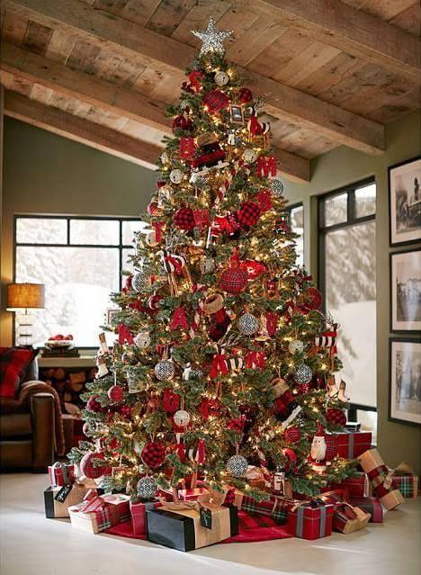 Decorazioni natalizie più di tendenza tartan-style