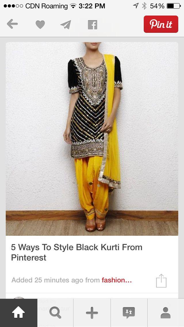 Style black kurta