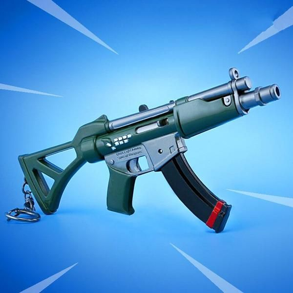 Fortnite Battle Royale New Submachine Gun Weapon Keychain Accessory