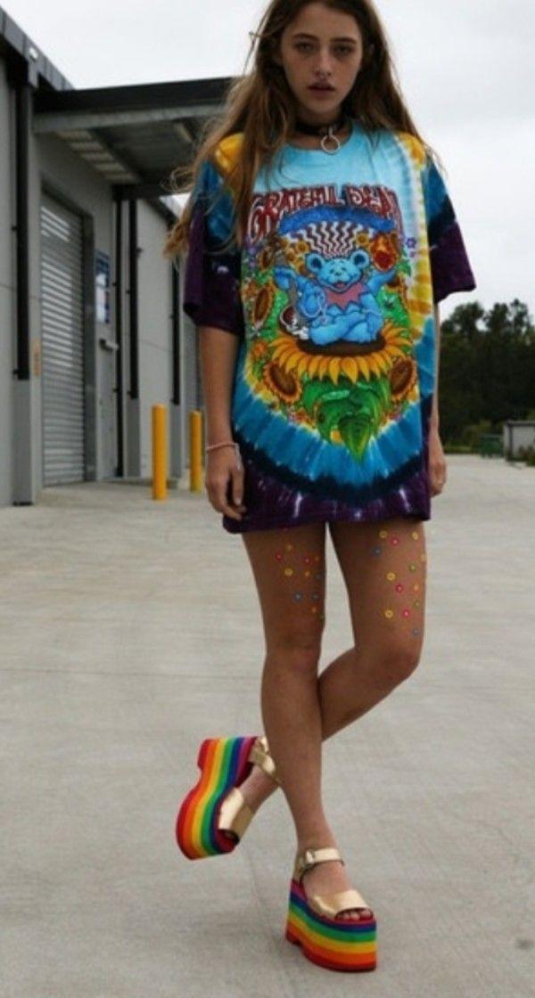 Hippe, rainbow, platform grunge, lifestyle