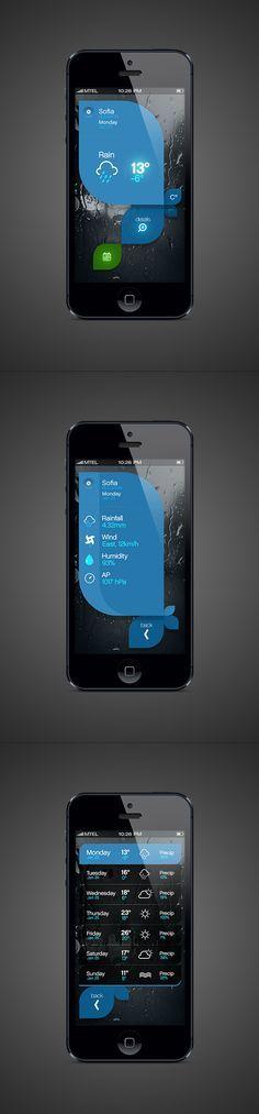 Weather App by Tsvetelin Nikolov, via Behance #webdesign #design #designer #inspiration #user #interface #ui