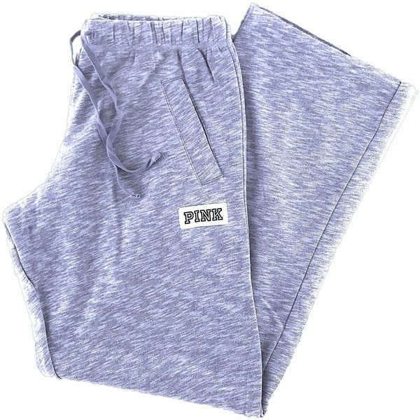 Victoria's Secret PINK Boyfriend Sweat Pants ($54) ❤ liked on Polyvore featuring activewear, activewear pants, boyfriend sweatpants, victoria secret pink sweatpants and sweat pants