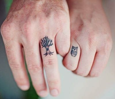 """Wedding ring tattoos are so romantic! These couples said """"I do"""" and got inked to remember the occasion. You'll swoon as you look through this gallery."""