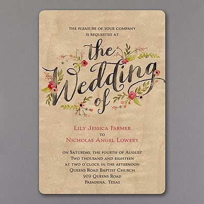 Natural Meets Pretty In The Colorful Flowers And Typography On This Real Wood  Wedding Invitation!