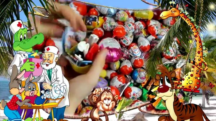New A Lot Of Candy and Kinder Surprise Eggs   Очень много конфет и сладо...