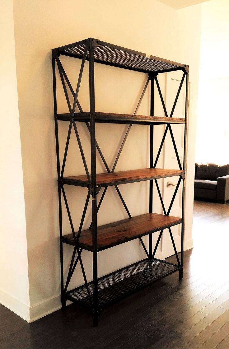 1000 id es sur le th me tag re industrielle sur pinterest industriel tag res et tag res. Black Bedroom Furniture Sets. Home Design Ideas