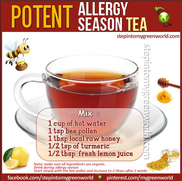 ☛ A potent allergy season tea ✒ Share | Like | Repin | Comment…