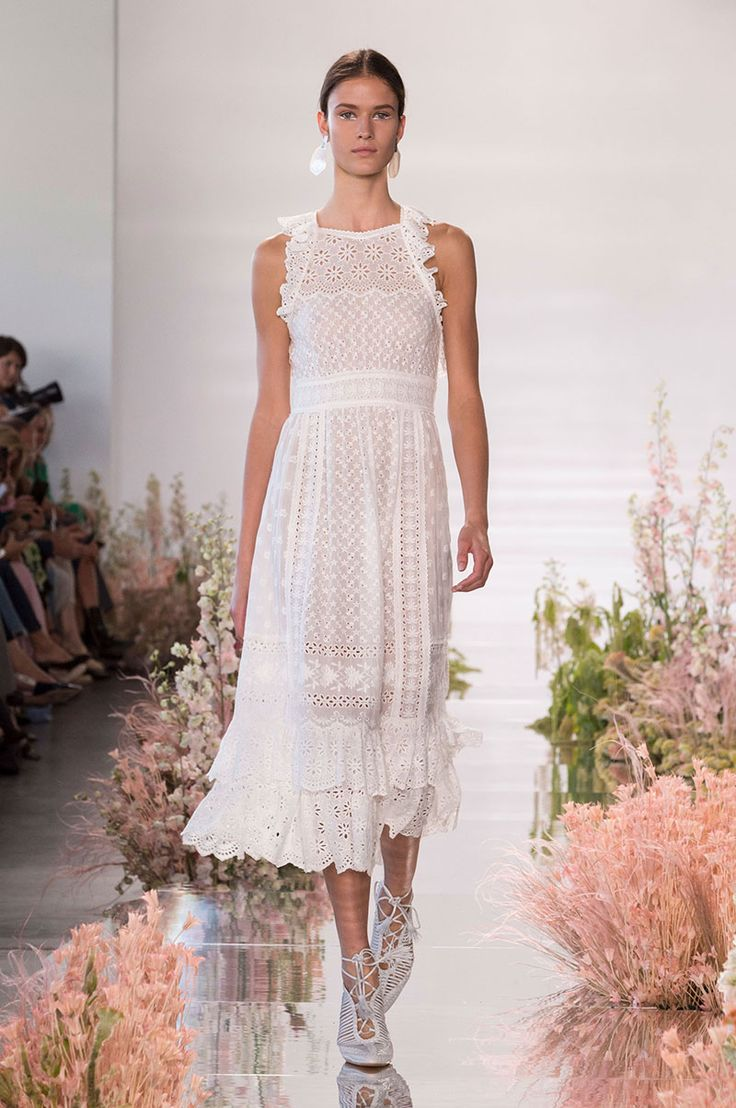 Fashion Inspiration | Runway: Ulla Johnson Spring 2018 - fluttery ruffles and sheer organza, crochet work and pretty eyelet ...