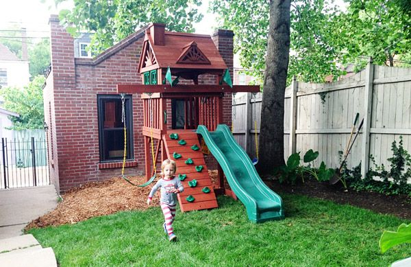 Small, Compact Yard Swing Set - Gorilla Nantucket