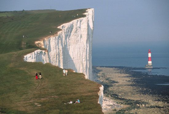 White cliffs of Dover - South coast of England facing France